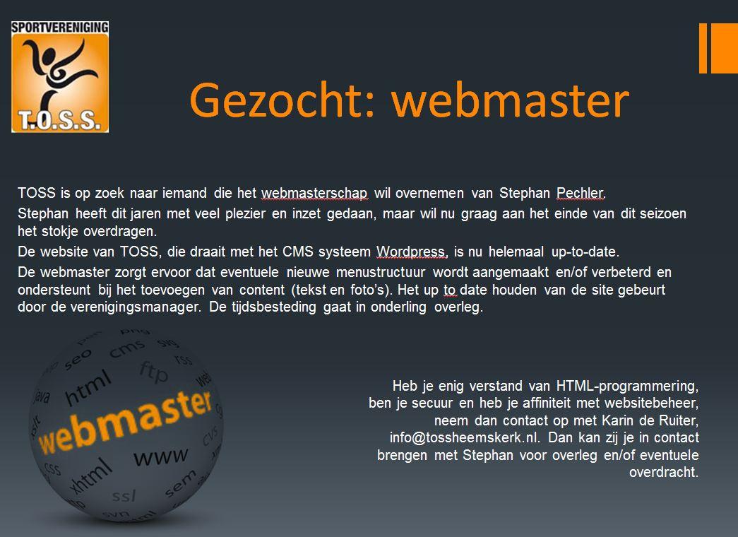 Webmaster gezocht